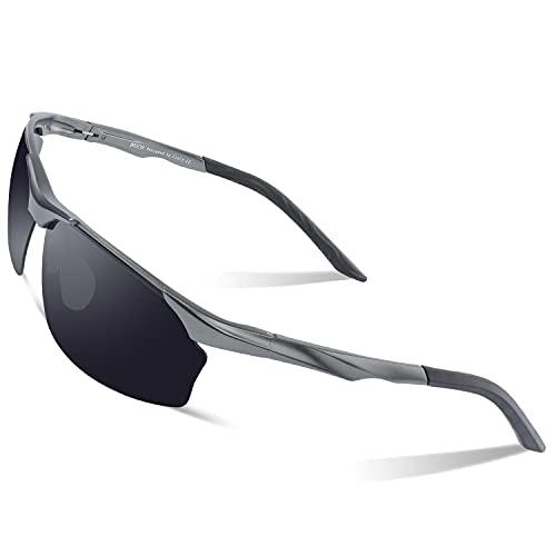HAOHANYOUPIN 27; s Vasos polarizados for Ciclismo, Pesca, Golf, irrompible, 8513s - Gris - Gafas de Sol Hombre