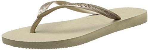 Havaianas Slim Graphic, Zapatillas de Estar por casa con talón Abierto Mujer, 2, 3/4 UK-35/36 BR-37/38 EU