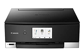 Canon TS8320 All In One Wireless Color Printer For Home | Copier | Scanner | Inkjet Printer | With Mobile Printing Black Amazon Dash Replenishment Ready