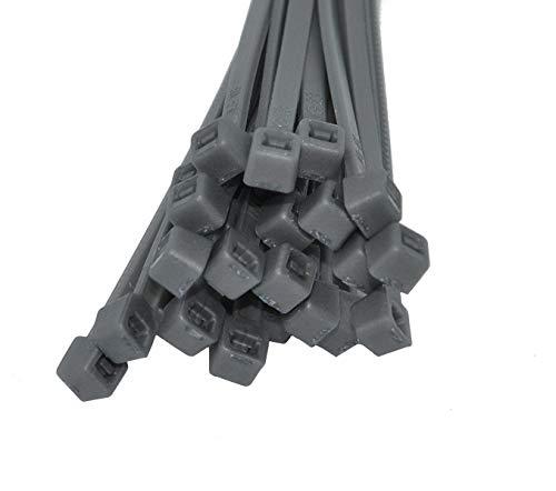 Kabelbinder 100 Stk. 4,8 x 300 mm farbig bunt Polyamid 6.6 Industriequalität (grau)