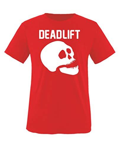 Comedy Shirts - Dead Lift - Halloween - Jungen T-Shirt - Rot/Weiss Gr. 134-146