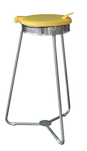 CleanMate Dreibein Müllsackständer MSS-1-3-G, für 70L oder 120L Sack, Abfallsammler, Mülleimer, Abfallsackhalter, Müll-Gestell, Gelb