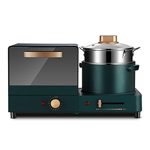 Breakfast Helper Mini Horno Máquina de Desayuno Home ctional Sandwich Bread Maker Vaporizador de Alimentos Diseño Compacto Herramientas de Cocina Multiusos Verde, Estación de Desayuno