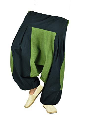 virblatt Pantaloni tasconi Laterali Punk Rave Pantaloni Goa Hippie Harem Pants Uomo – Himmel LXL