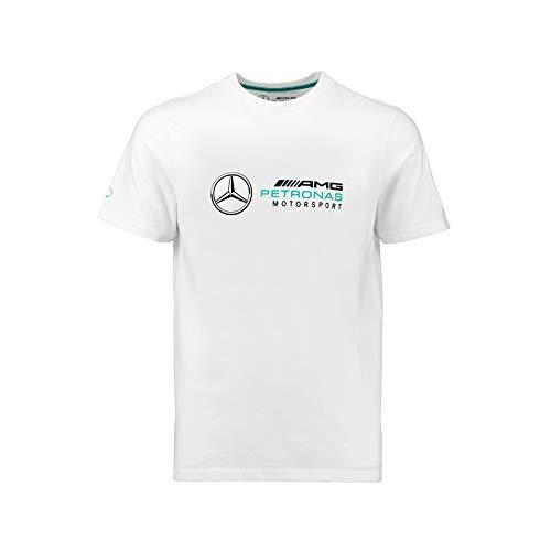 Mercedes AMG Petronas Motorsport F1Herren Logo T-Shirt–Weiß–2018, Herren, weiß, xxl