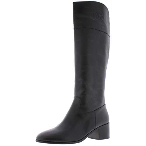 Michael Michael Kors Womens Dylyn Leather Riding Boots Black 6 Medium (B,M)