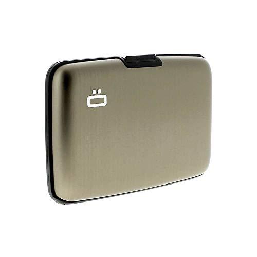ÖGON Smart - Porta Carte Stockholm - Protezione RFID: Protegge Le Tue Carte Contro Le Frodi - Alluminio Anodizzato (Grigio Scuro)