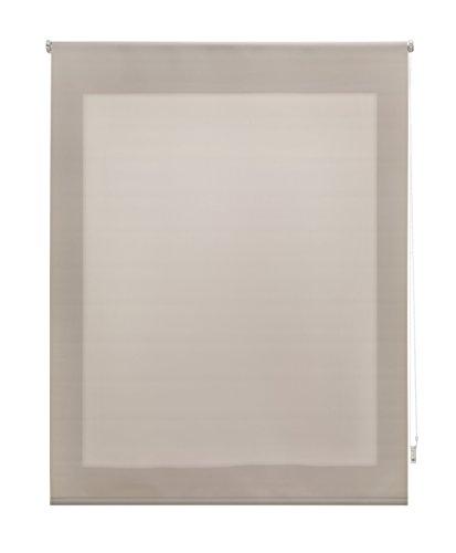 Uniestor Estor Enrollable Liso Traslúcido, Tela, Marfil 140x250 cm