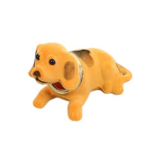 Autodekoration Auto-Verzierungen Automobil Armaturenbrett Spielzeug Kopf schüttelt Hund Puppe nette Dekoration Nicken Welpen Figuren Zubehör for Kinder Geschenk Innendekoration ( Color Name : Orange )