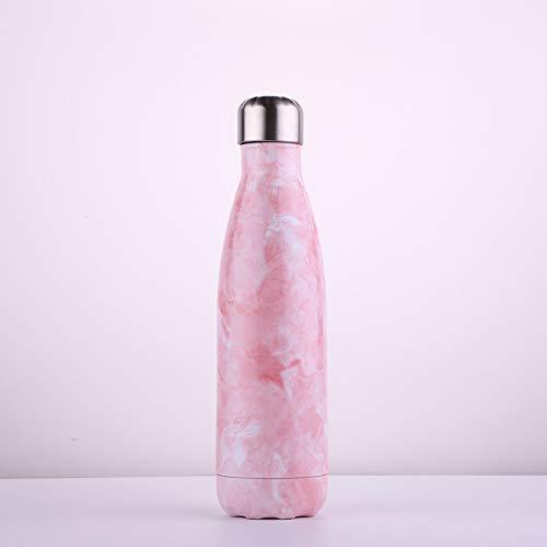 Creatieve stijl Cola Fles/RVS Thermos Beker/Drink Koffie op elk moment/Outdoor Sport Draagbare Beker/Kan Houd 350-500ml warme en koude dranken 350ml Cherry Roze