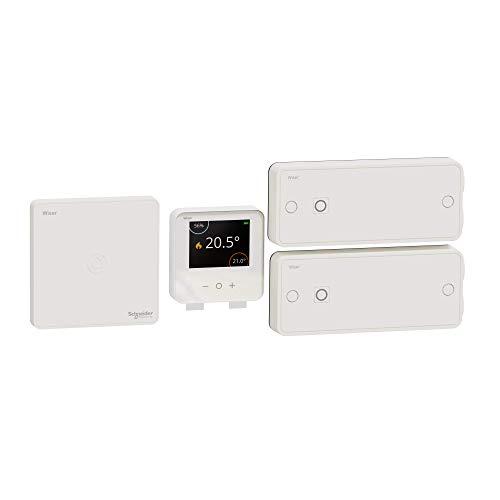 Schneider Electric Wiser Kit de démarrage Thermostat connecté pour radiateurs électriques CCTFR6905
