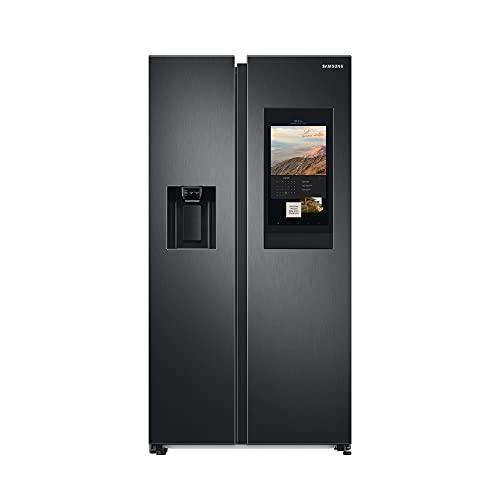 Samsung RS6HA8891B1, EG SidebySideKühlschrank mit Family Hub, 389 Liter Kühlschrankvolumen, 225 Liter Fassungsvermögen des Gefrierteils, 346 kWh/Jahr, Premium Black Steel