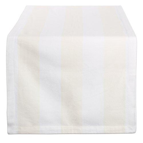 DII Indoor & Outdoor Tischläufer, Cremefarben und Weiß, 18x108