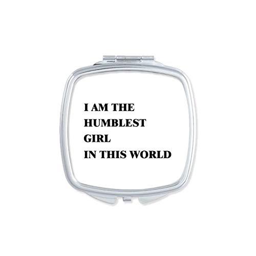 DIYthinker Je suis Le Maquillage Compact Fille Miroir carré Portable Plus Humble Mignon de Cadeau Miroirs de Poche à la Main Multicolor