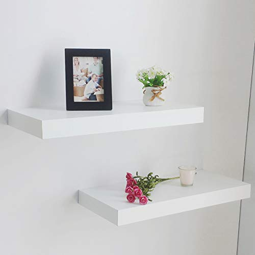 Floating Shelves are space savers in a small home office