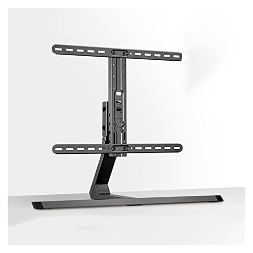 Soporte TV Universal TELEVISOR Desktop de base de altura ajustable TELEVISOR Stand 37 '-75' Metal TELEVISOR Soporte giratorio, sostiene hasta 88 libras, máx. VESA 60 0x400mm Soporte para TV