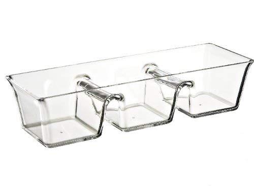 Felli Crystal clear acrylic 3 sectioned server. (U396554)