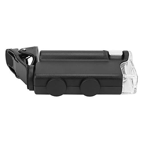 Mini cámara 60-100X microscopio portátil del clip para observar con la caja de la PU