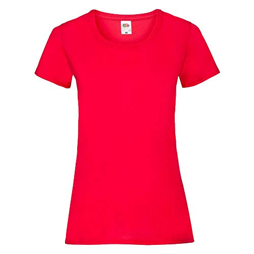 Fruit of the Loom - Lady-Fit Valueweight T - Modell 2013 S,Red