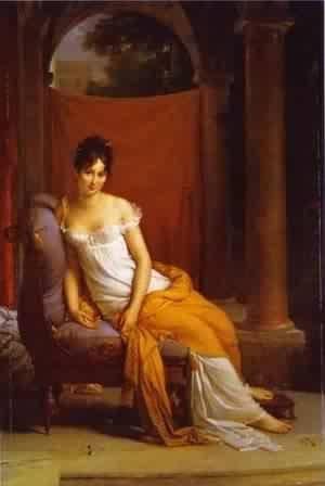 GFM Painting Handgemalte Ölgemälde Reproduktion von Portrait Of Juliette Recamier 1805,Ölgemälde von Francois Pascal Simon Gerard - 24 By 36 inches