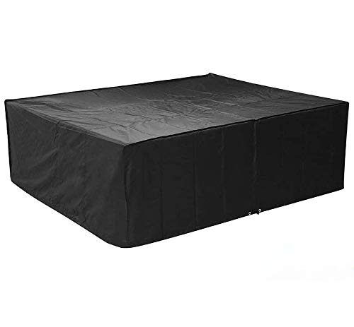 FIXKIT Rectangular Furniture Cover, Table and Chair Patio Cover Waterproof for Outdoor Garden Furniture Care Medium (79' L63 W27.5 H)