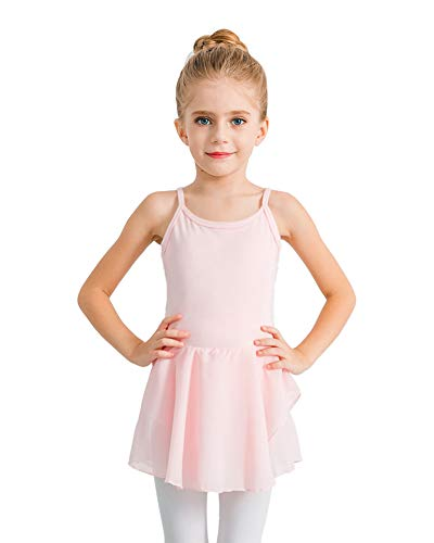 STELLE Girl's Camisole Dress Leotard for Dance, Gymnastics and Ballet(Toddler/Little Girl/Big Girl)(XS, Ballet Pink)
