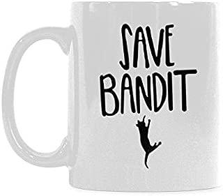 Save Bandit Coffee Mug Funny Coffee Cup Ceramic Tea Cup (11oz)