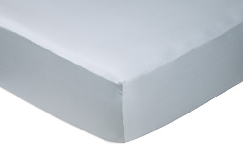 Amazon Basics Fitted Sheet, Baumwolle, Blau (Smokey Blue), 180 x 200 x 30 cm