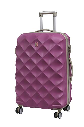 it luggage Debossed Diamond Suitcase, 70 cm, 104 L, Dahlia Mauve