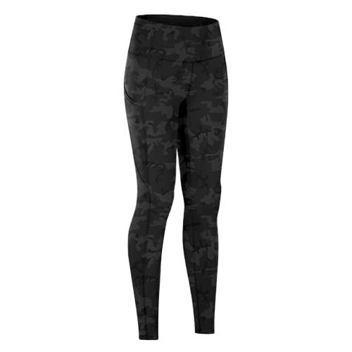 QTJY Pantalones elásticos de Cintura Alta para Mujer, Pantalones de Yoga, Leggings, Pantalones de Fitness al Aire Libre, Pantalones Deportivos Suaves de Secado rápido, Pantalones de Yoga ES