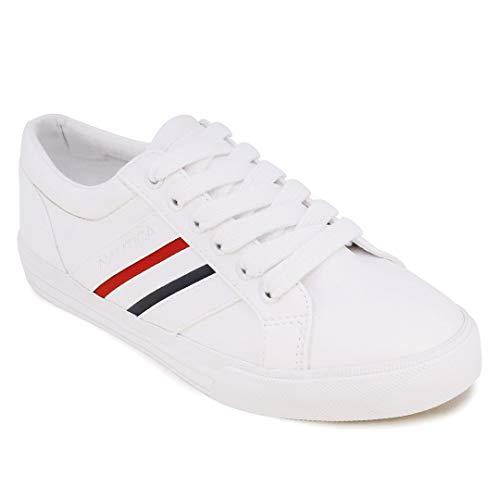 Nautica Women Fashion Sneaker Casual Shoes -Steam Lace-Up- Slip On-Calera 9-RWB-8