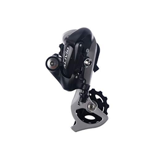 ZqiroLt Deragliatore Posteriore, Accessori Bici, 8/24 velocità, MTB Mountain Bicicletta per Shimano ALIVIO RD-M410 Black