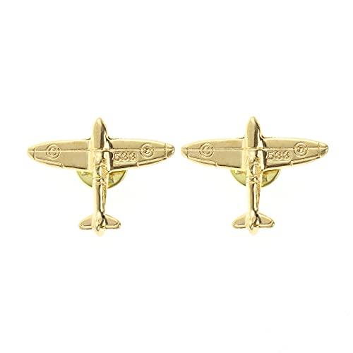 Modelo de avión broche accesorios broche broche joyería regalos para niños y niñas (gold)