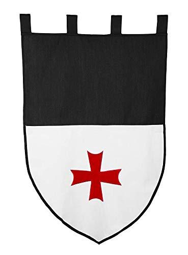 Supreme Products Mittelalterliche Dekoration - Flagge der Tempelritter für LARP
