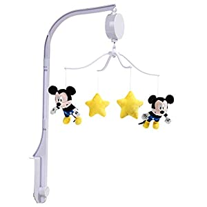 Lambs & Ivy Forever Mickey Mouse Musical Baby Crib Mobile – Yellow, Disney