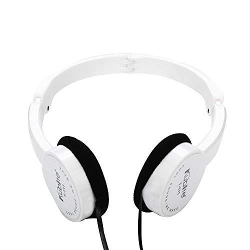 Marxways Kids Wire Headphones On Ear Faltbares Stereo-Headset für Kinder Kopfhörer für iOS Android Smartphone Laptop Tablet PC Computer (Weiß)