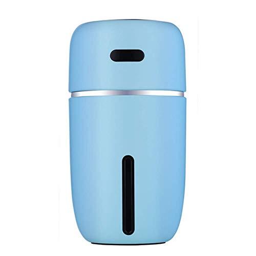 HW Humidificador Aromaterapia Ultrasónico, Difusor de Aceites Esenciales, Seguro y Elegante, purificar el Aire y mejorara el Aire seco y sofocante, Dormitorio, hogar, Oficina, Coche etc,Blue