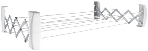 Leifheit Teleclip 74 Extendable - Tendedero de Pared de Metal, 12x110.8x11 cm, Color Blanco