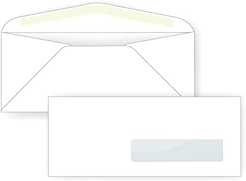 No. 10 Right Hand shop Window Envelope Very popular - 24# 2 9 White 1 4 x 8