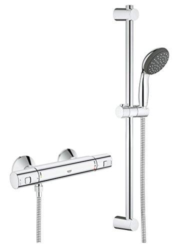 Grohe Vitalio Start - Sistema de ducha con termostato, teleducha y barra de ducha, acabado cromado (Ref. 34597000)