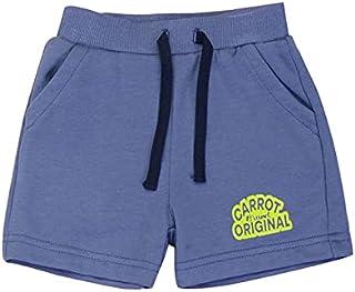 Carrot Light Cotton Boys Ribbed-Trim Drawstring Elastic Waist Side-Pocket Shorts