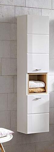 Jadella hoge kast 'Fina wit' badkamerkast wit hoogglans