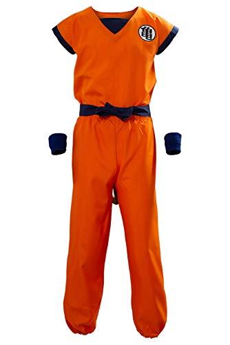 Unisex Adult Dragon Ball Z Son Goku Cosplay Costume Kids Halloween Kung Fu Suit