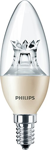 Philips LED Warm Glow E14 Small Edison Screw Dimmable Candle Light Bulb, 6 W (40 W) - Warm White - Pack of 10