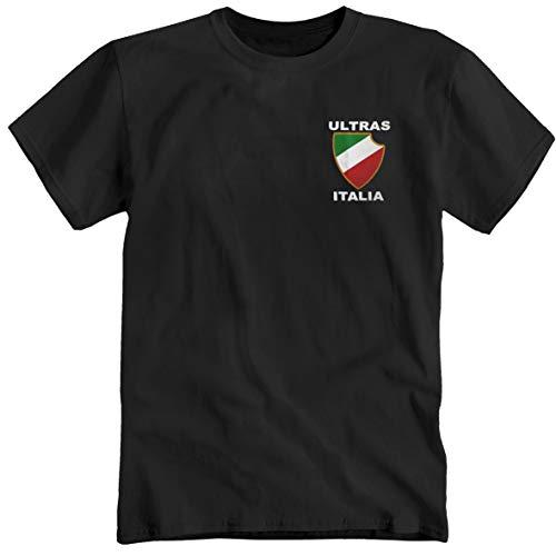 Ultras Italia Italia - Maglietta da calcio, scena curva, colore: Nero blu navy XL