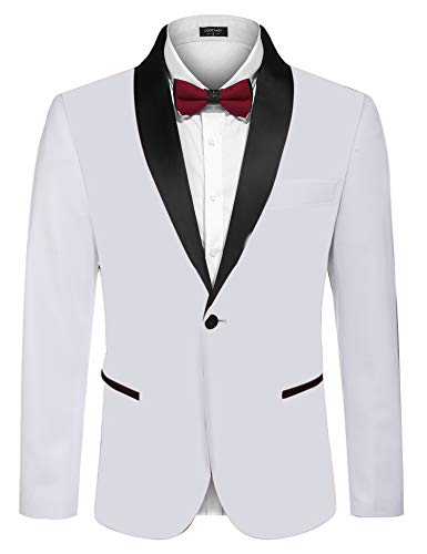 White Suit Jacket for Men Big and Tall