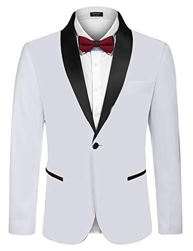 White Blazer Jacket Men's