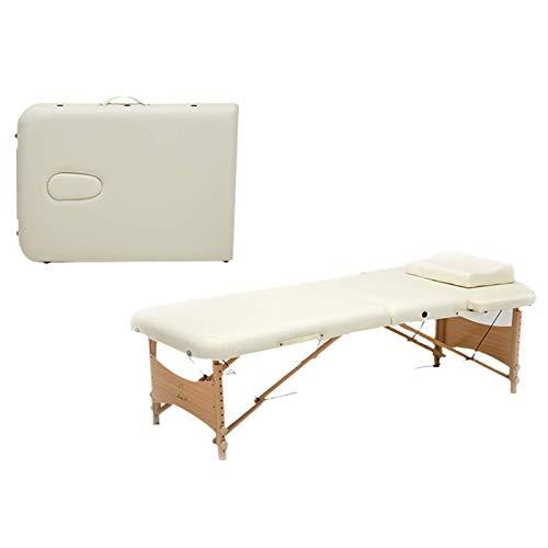 Camilla de masaje Camilla de masaje Cama de spa Altura ajustable 2 pliegues Portátil de 73 pulgadas Mesa de masaje con sábana Funda de cuna 2 Colgadores de refuerzo Cama de tatuaje de salón facial