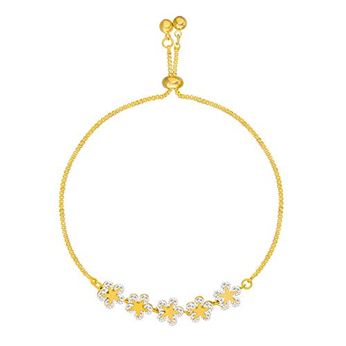 Sevenfly Dainty Snowflake Charm Bracelet Adjustable Chain Bangle Charming Hang Accessories for Women Teen Girls