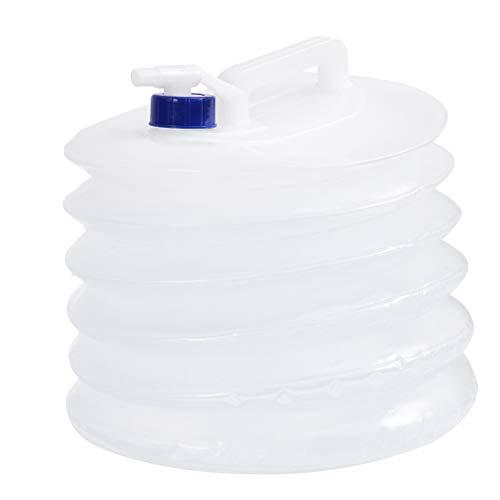Vosarea Contenedor de Agua Plegable Cubo Plegable de Agua de Grado Port/átil para Caza Camping Picnic al Aire Libre 5L